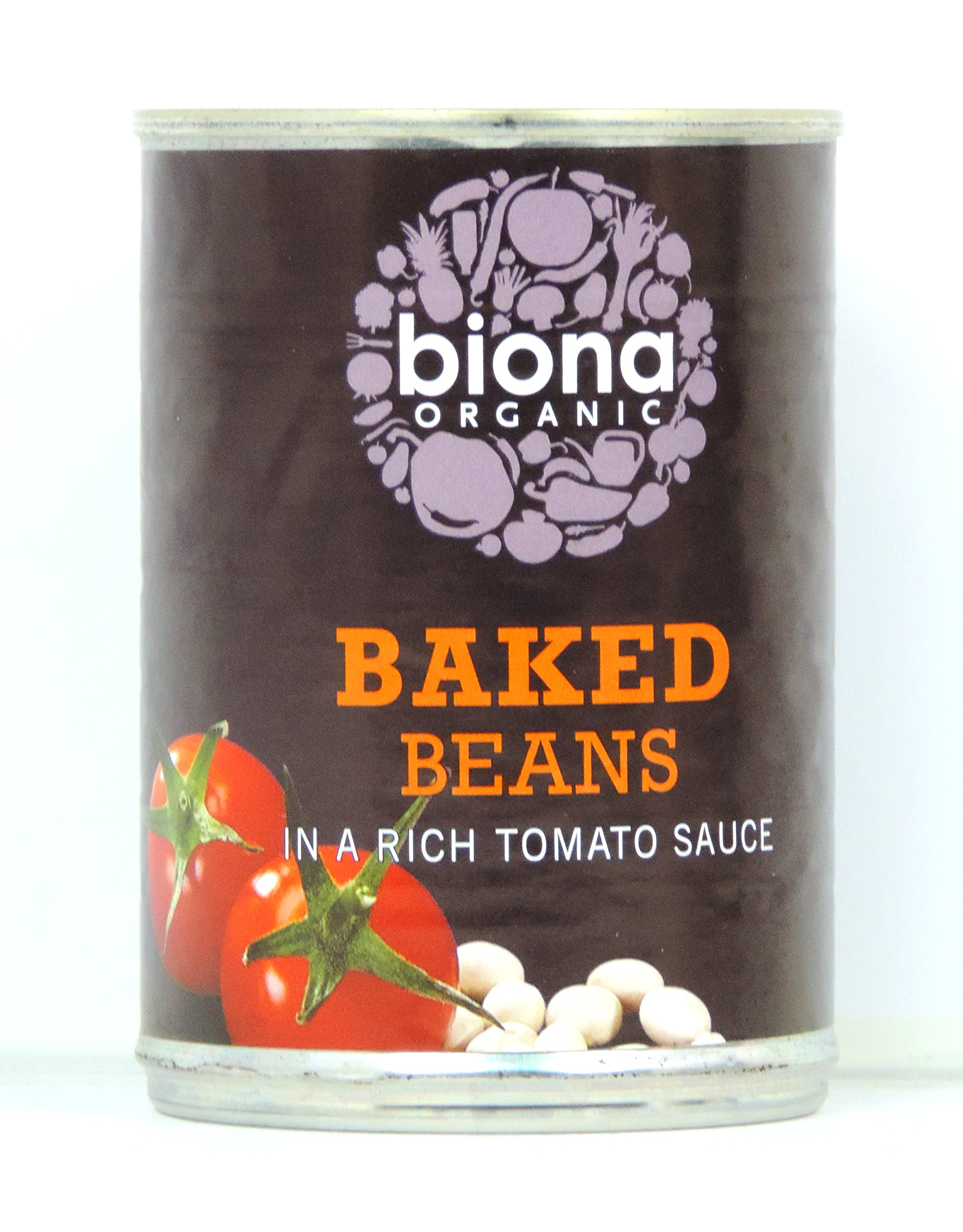 Biona Organic - Canned Baked Beans in Tomato Sauce - 400g (Case of 6)