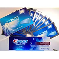 Bright White Teeth WHITENING Strips + Crest 3D WHITENING Toothpaste