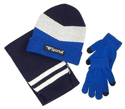 f981552c154 Sportoli Boys  Kids Cold Weather Knit Accessory Set Warm Hat