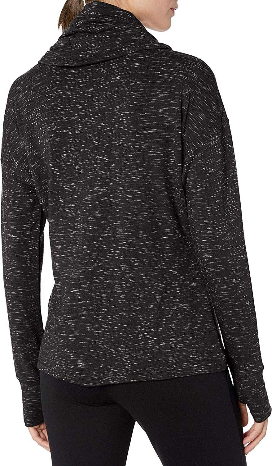 Danskin Womens Space Dye French Terry Pullover