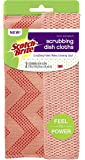 Scotch-Brite Reusable Dishcloth, Coral, 2 Count