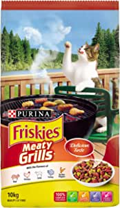 Friskies Adult Meaty Grills Cat Food, 10kg