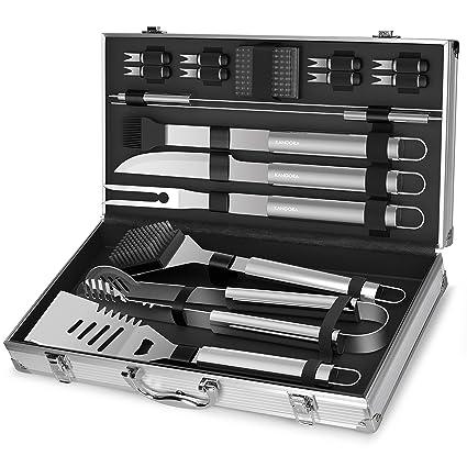 Amazon.com: KANGORA - Juego de herramientas para barbacoa de ...