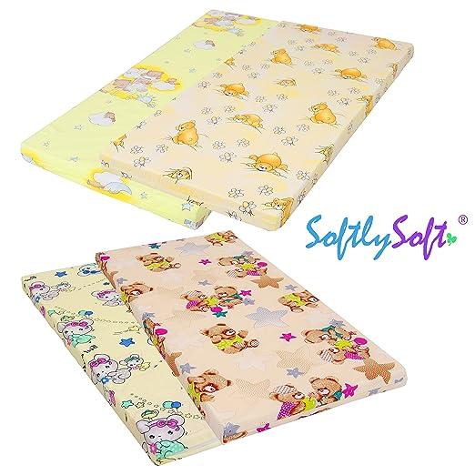 SoftlySoft Kindermatratze Reisebettmatratze 70x140cm Beige
