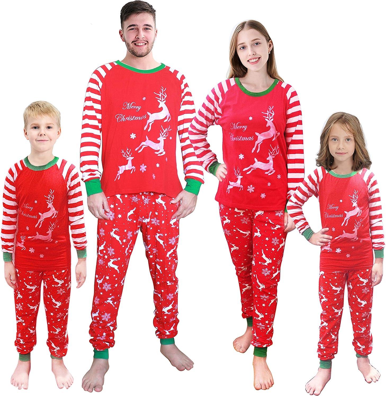 Matching Family Pajamas for Adult Men Christmas PJS Reindeer Dad Sleepwear Xmas Clothes Size Large