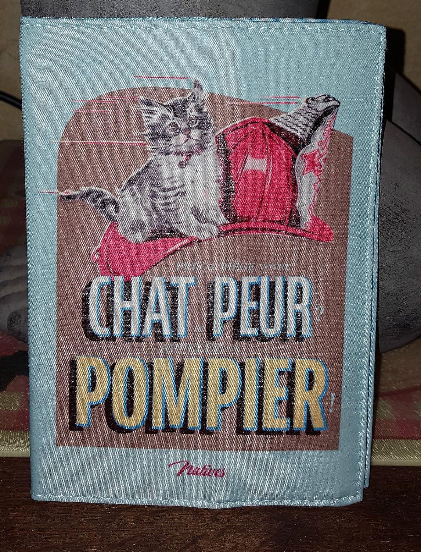 Natives Chat Peur Pompier Prot/ège-Carnet de Sant/é pour Chat
