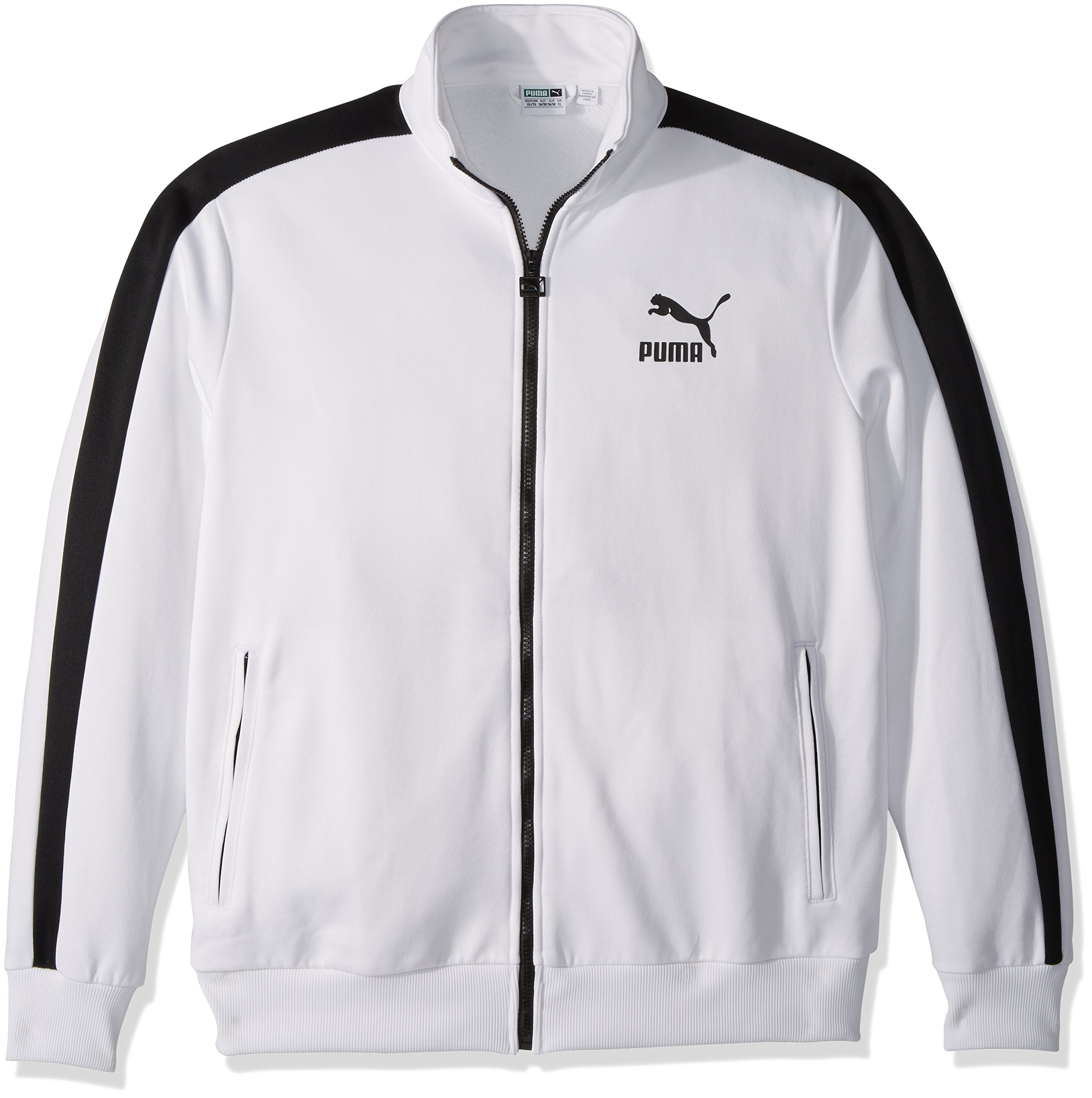 PUMA Men's Archive T7 Track Jacket, White Black, M by PUMA