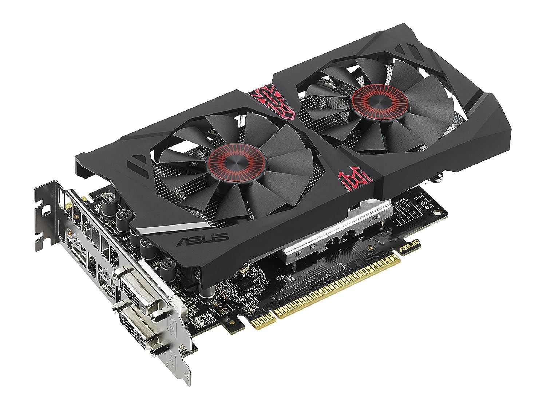 ASUS STRIX Radeon R7 370 Overclocked 4 GB DDR5 256-bit DisplayPort HDMI 1.4a DVI-D DVI-I Gaming Graphics Card