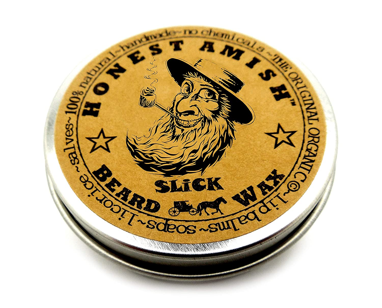 Honest Amish Slick Beard Wax - All Natural and Organic Beard Wax Slick