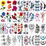 42 Sheets Temporary Tattoos for Men and Women,Fake Tattoo Body Art Sticker