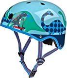 MICRO ACCESSORIES Micro Scooter Safety Helmet Matt Saurus For Boys And Girls Cycling, Bike