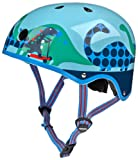 Micro Safety Helmet Matt Scootersaurus For Boys And Girls Cycling, Scooter, Bike