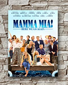 Zero.o Mamma MIA! HERE WE GO Again Movie Poster Standard Size | 18-Inches by 24-Inches | Lily James Posters Wall Poster Print