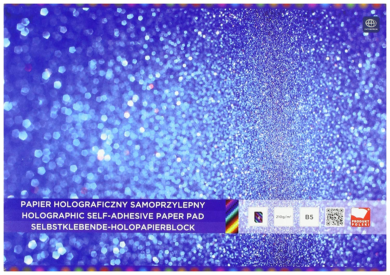 Interdruk Zepahob5 holographique Bloc de Papier B5 6, Multicolore Interdruk SA Interdruk_ZEPAHOB5
