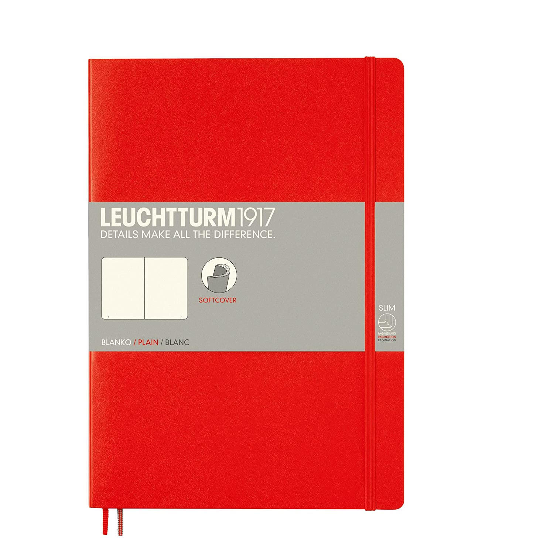 Composition B5 Leuchtturm1917/Couverture souple 121/pages Feuilles vierges noir