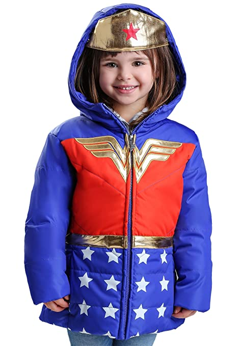 d60c41332 Amazon.com: FunComInc DC Comics Wonder Woman Girls Puffer Coat Size 8:  Kitchen & Dining