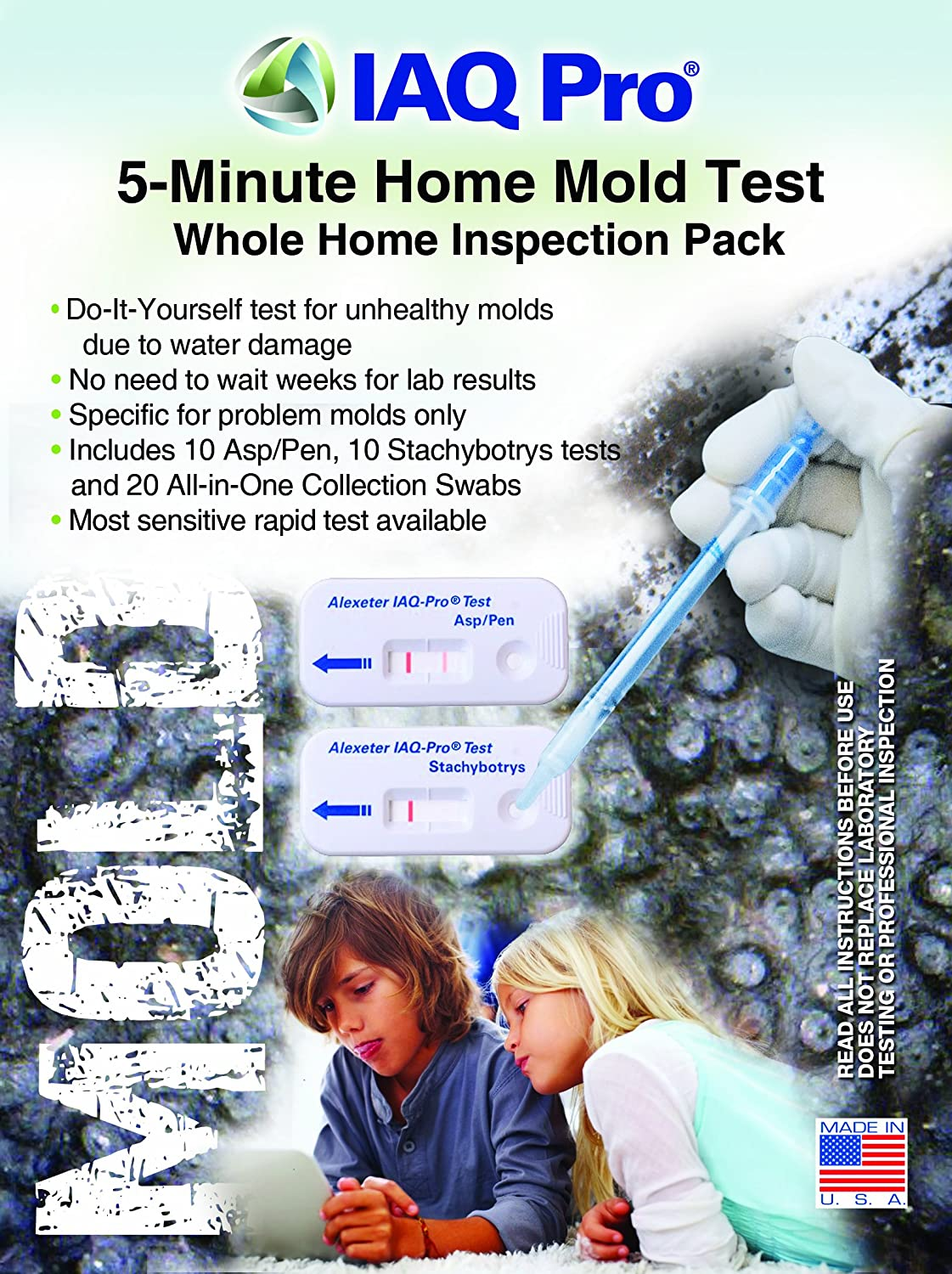 IAQ Pro 5-Minute Mold Test - Professional Inspection Pack (10 Test Sets)