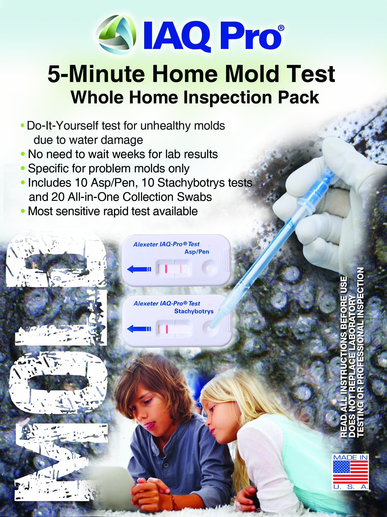 IAQ Pro 5-Minute Mold Test Whole Home Inspection Pack by Alexeter Technologies