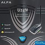 ALFA U24N Wi-Fi Adapter – 802.11 b/g/n 150Mbps