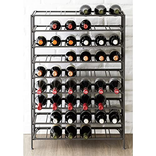 54 Bottle Connoisseurs Deluxe Large Foldable Gray Metal Wine Rack