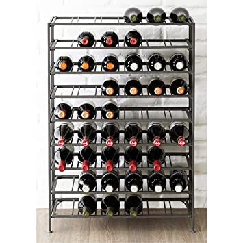 Amazoncom 54 Bottle Connoisseurs Deluxe Large Foldable Gray Metal