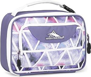 High Sierra Single Compartment Lunch Bag, One Size, Dreamscape/Purple Smoke/White