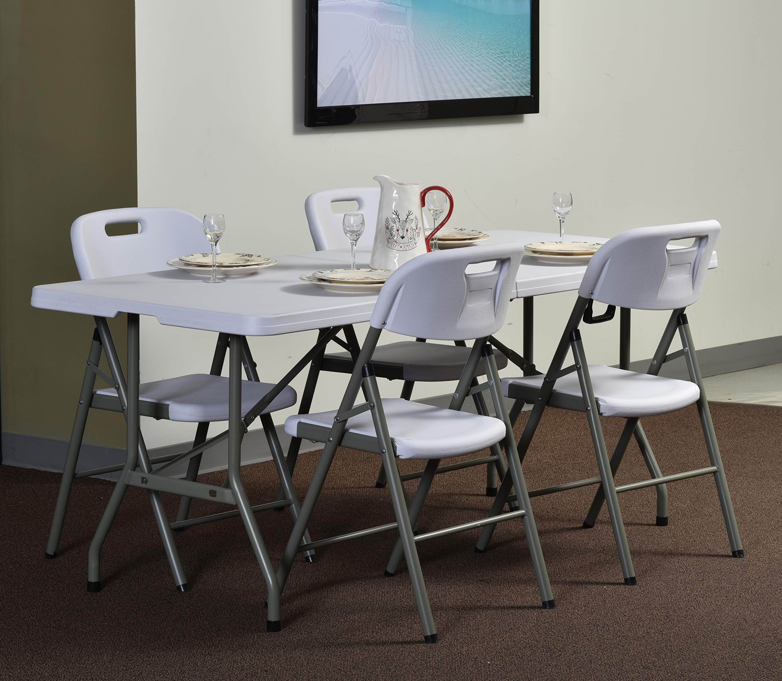 Sandusky Lee FPT7230-WV2 Commercial Fold in Half Utility Table, 6', White, 29'' Height, 72'' Width, 30'' Length by Sandusky (Image #5)