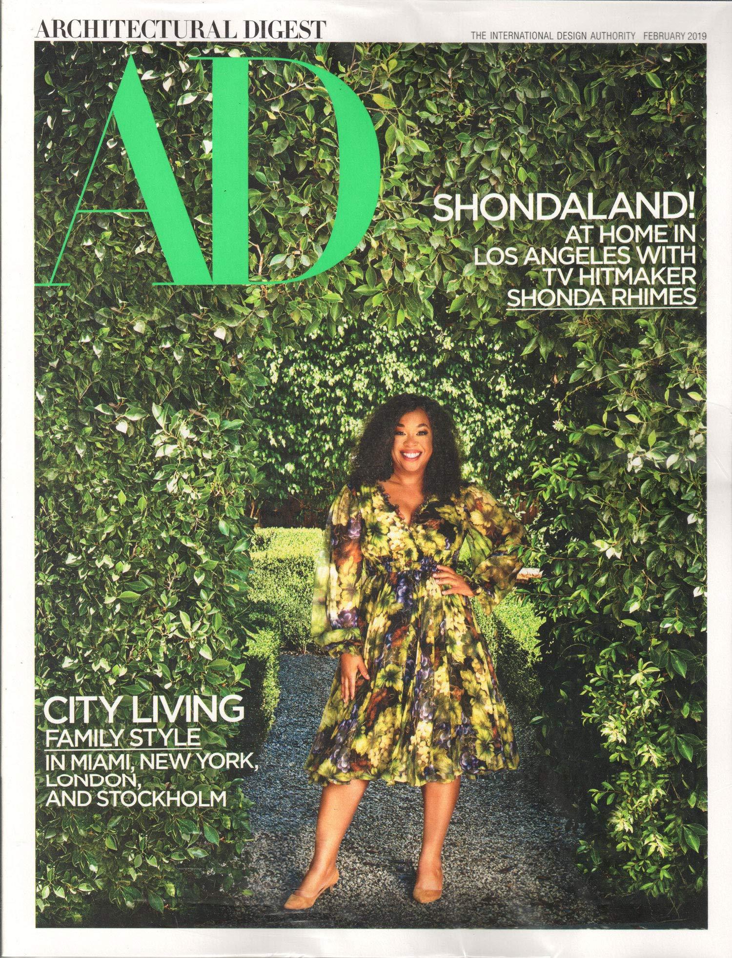 Architectural Digest Magazine February 2019 | Shonda Rhimes