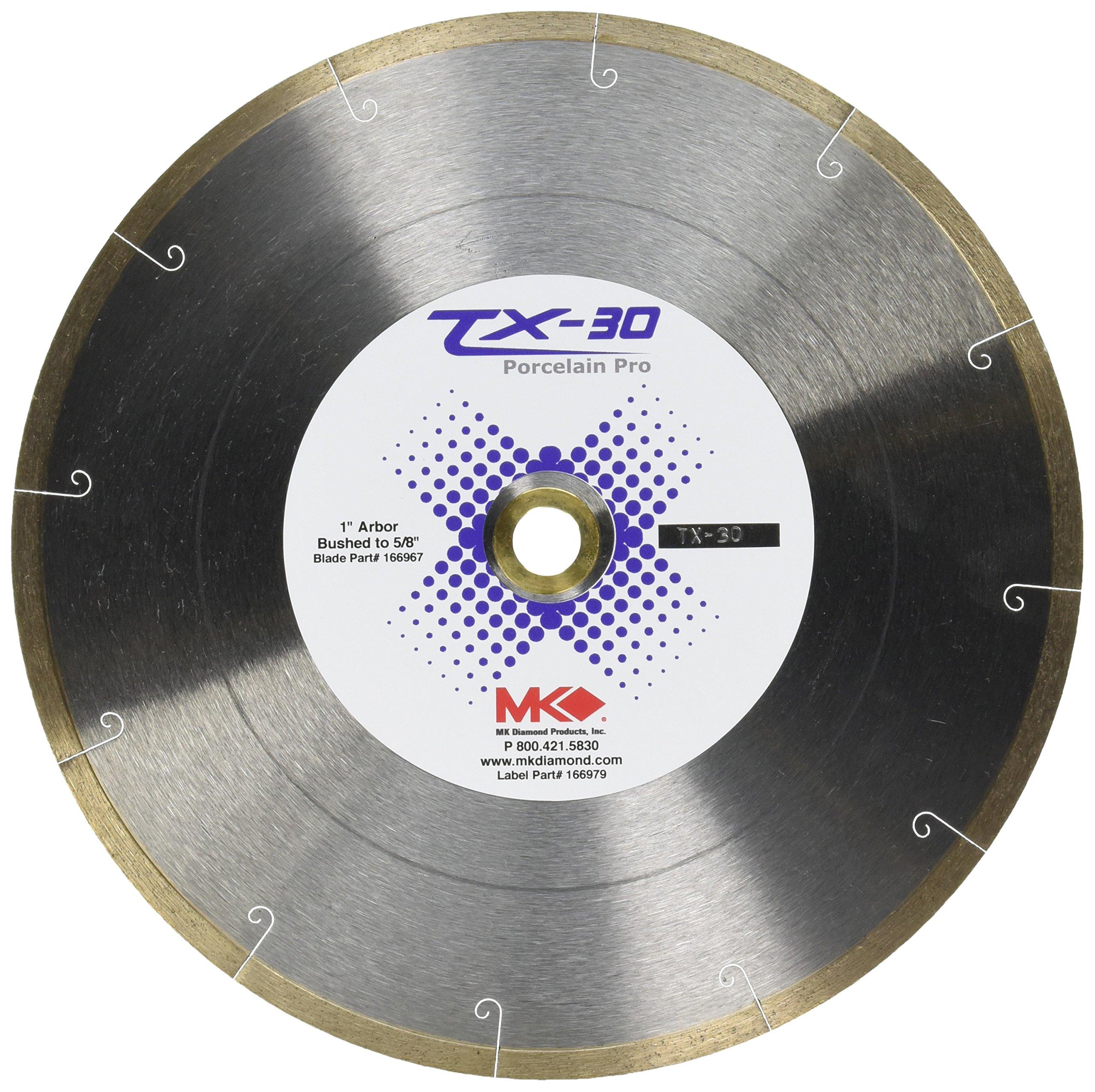 MK Diamond 166967 TX - 30 Professional Porcelain Blade, 10'' X .060'' X 1''