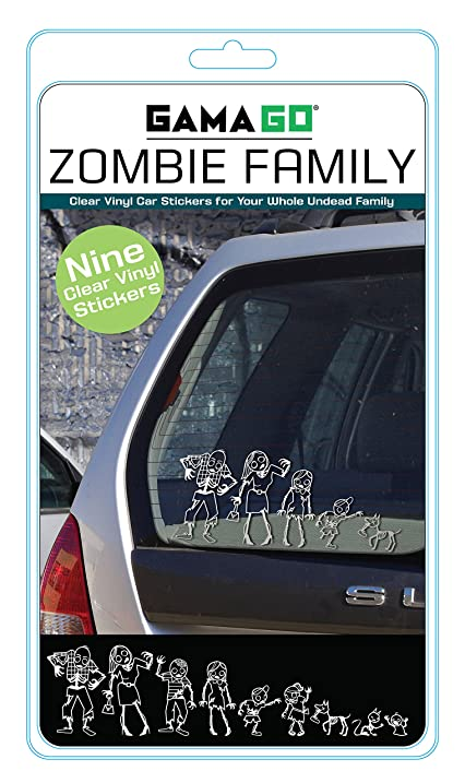 Zombie family car stickers by gamago