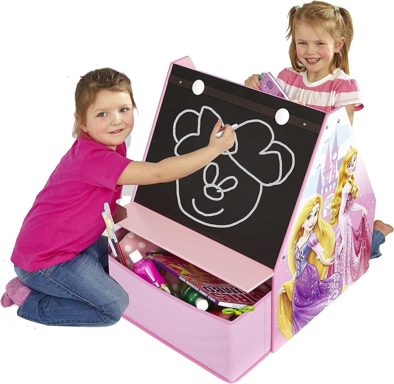 Motivo: Principesse Rose Rosa Disney Contenitore per Giocattoli e Libri con Lavagna