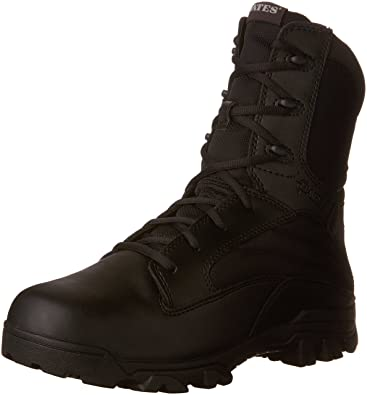 546caaf02fce0 Bates Men's 8 Inch Leather Nylon Side-Zip Uniform Boot