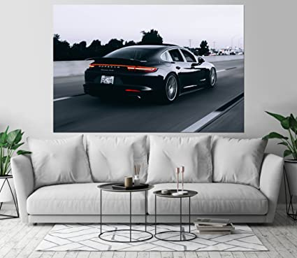 Porsche Panamera Turbo Vehicle Art Print Wall Decor Self-Adhesive - Wallpaper Sticker 48 x
