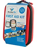 First Aid Kit: Complete Kit, Hard Shell 125-Piece for Office, Home, School, Emergency, Survival, Camping, Hunting, Travel, Car or Automotive and Sports - ResQue1st
