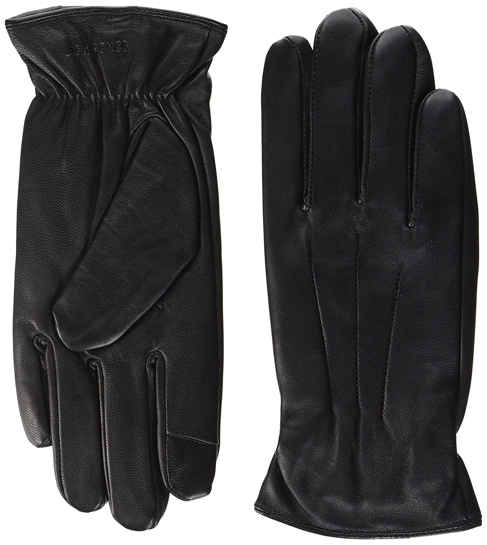 JACK /& JONES Jacmontana Leather Gloves Sts Guanti Uomo