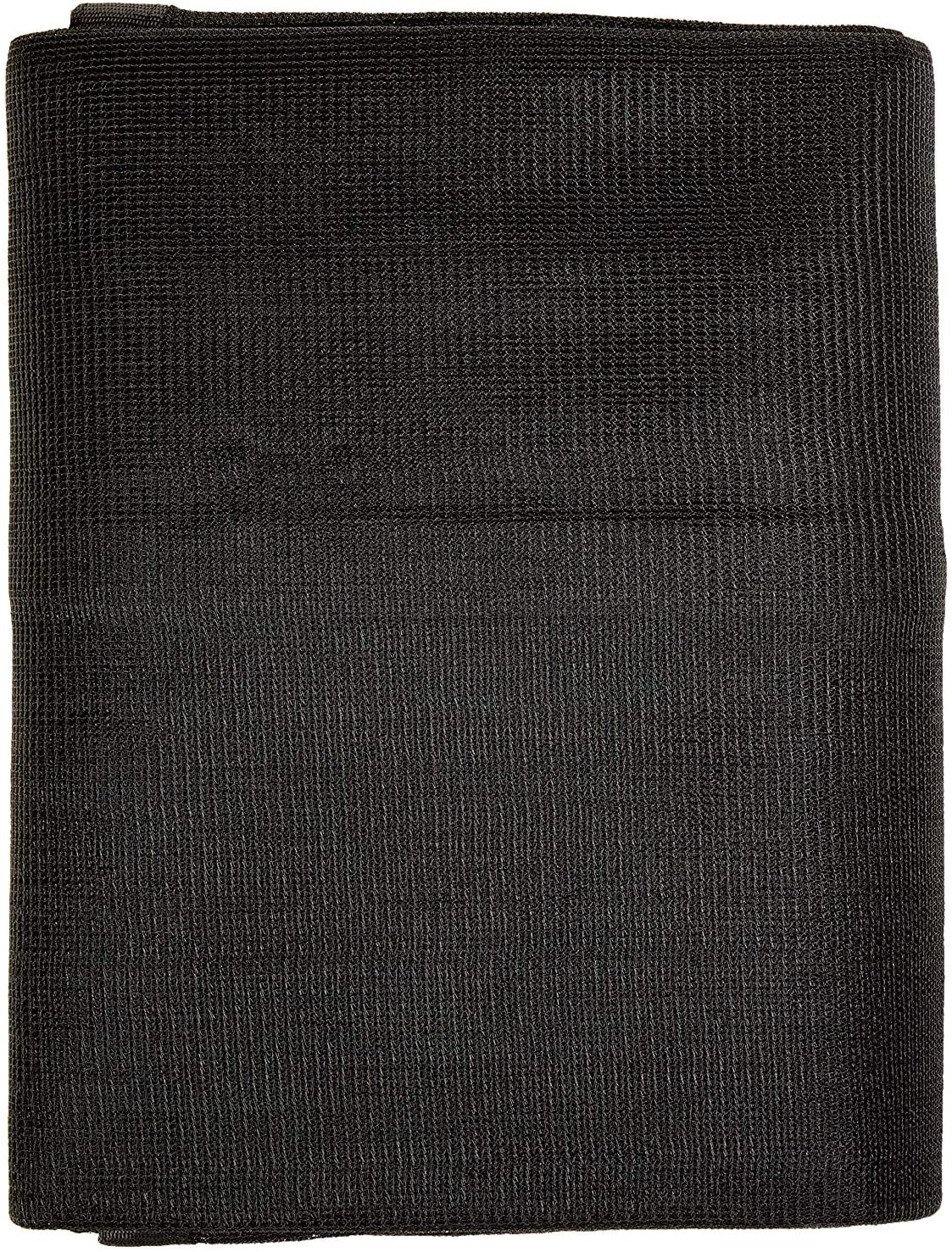 Windscreensupplyco Heavy Duty Black Knitted Mesh Tarp with Grommets 60-70% Shade (16 FT. X 24 FT.)