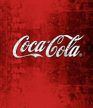 Wenko Glasrückwand Coca Cola Classic Spritzschutz, Gehärtetes Glas,  Mehrfarbig, 70 X 60