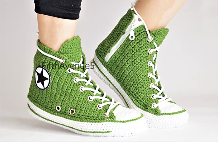 Amazon Knitted Green Converse Slippers For Men And Women