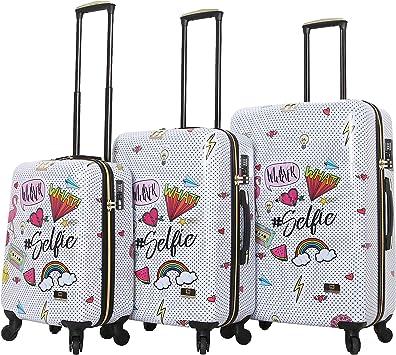 Multicolor HALINA Nikki Chu Whatever 3 Piece Set Luggage