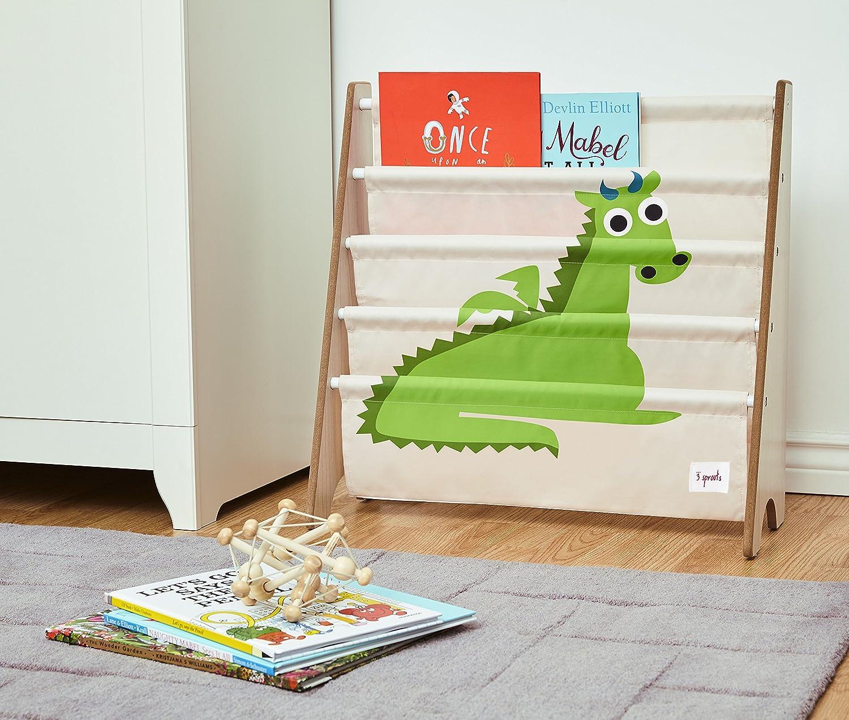 Kids Storage Shelf Organizer Baby Room Bookcase Furniture,Elephant//Pink 3 Sprouts Book Rack