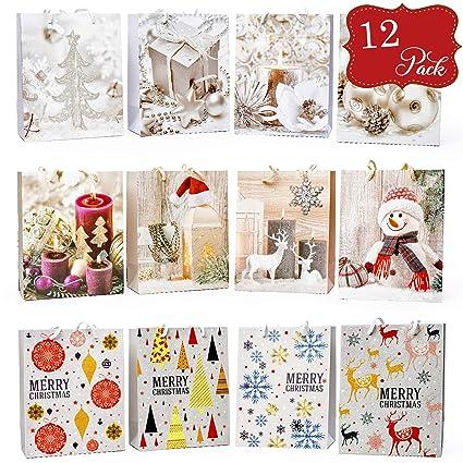 12 Bolsas para Regalo de Navidad - Diseños de temas de ...