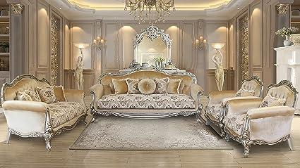European Furniture 3 Pieces Serena Luxury Sofa Set