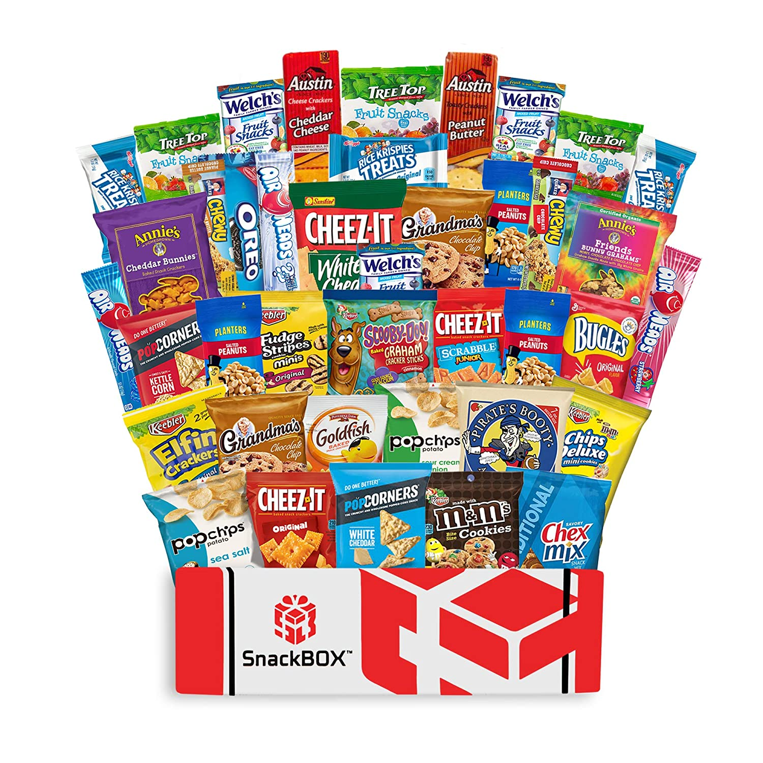 Care Package Snacks for College Students, Finals, Office, Easter, Deployment, Military and Gift Ideas - Including Over 3 lbs of Chips, Cookies and Candy! (40 Count) 91n1luVRzKL