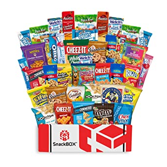 Care Package Snacks for College Students, Finals, Office, Christmas Gifts, Deployment, Military and Gift Ideas - Including Over 3 lbs of Chips, ...