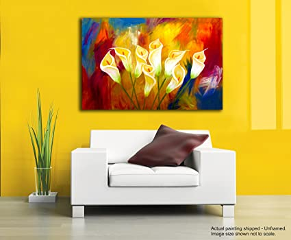Tamatina Canvas Paintings - White Tulips - Flowers - Nature Canvas ...
