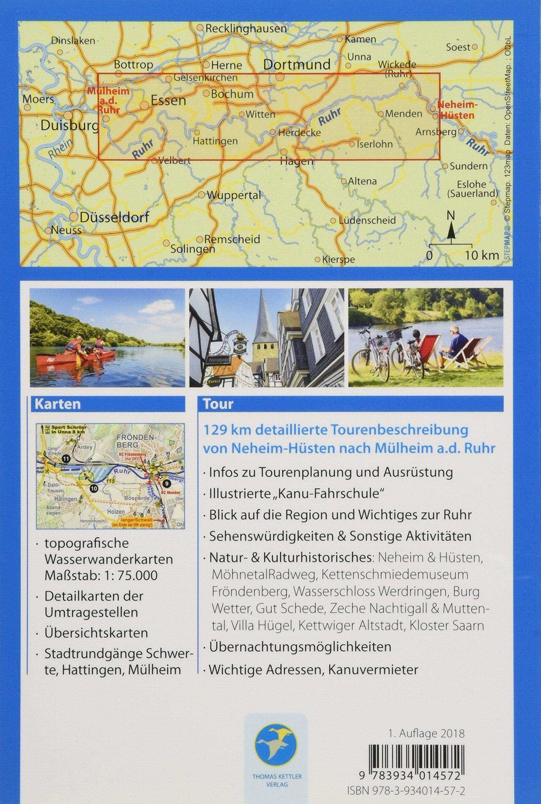 Kanu Kompakt Ruhr  Die Ruhr von Neheim-Hüsten nach Mülheim a.d. Ruhr mit  topografischen Wasserwanderkarten  Amazon.de  Michael Hennemann  Bücher df6cb894b4
