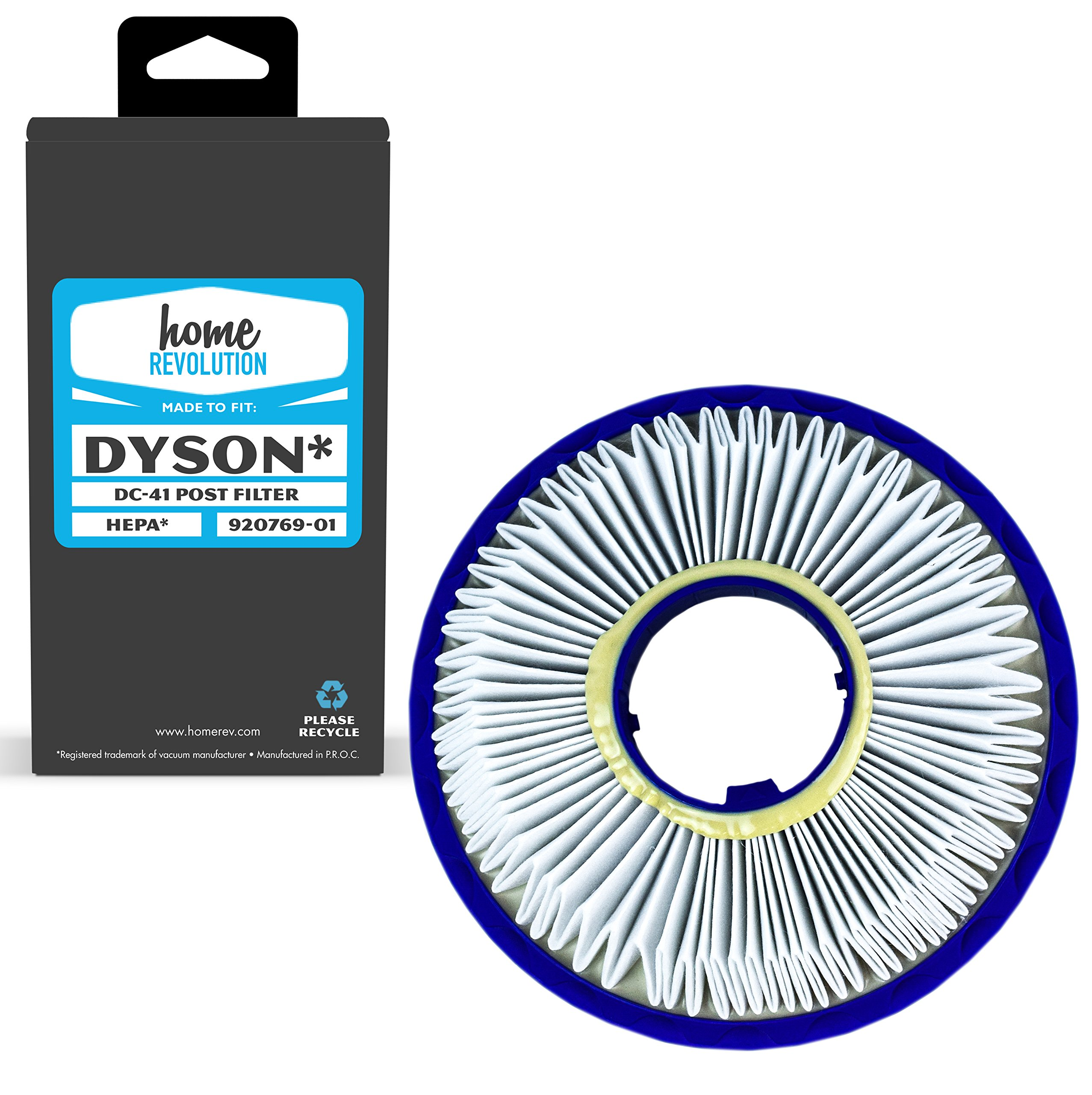 Home Revolution Replacement HEPA Filter, Fits Dyson DC41, DC65, DC66 Animal, Total Clean and Ball Models & Part 920769-01
