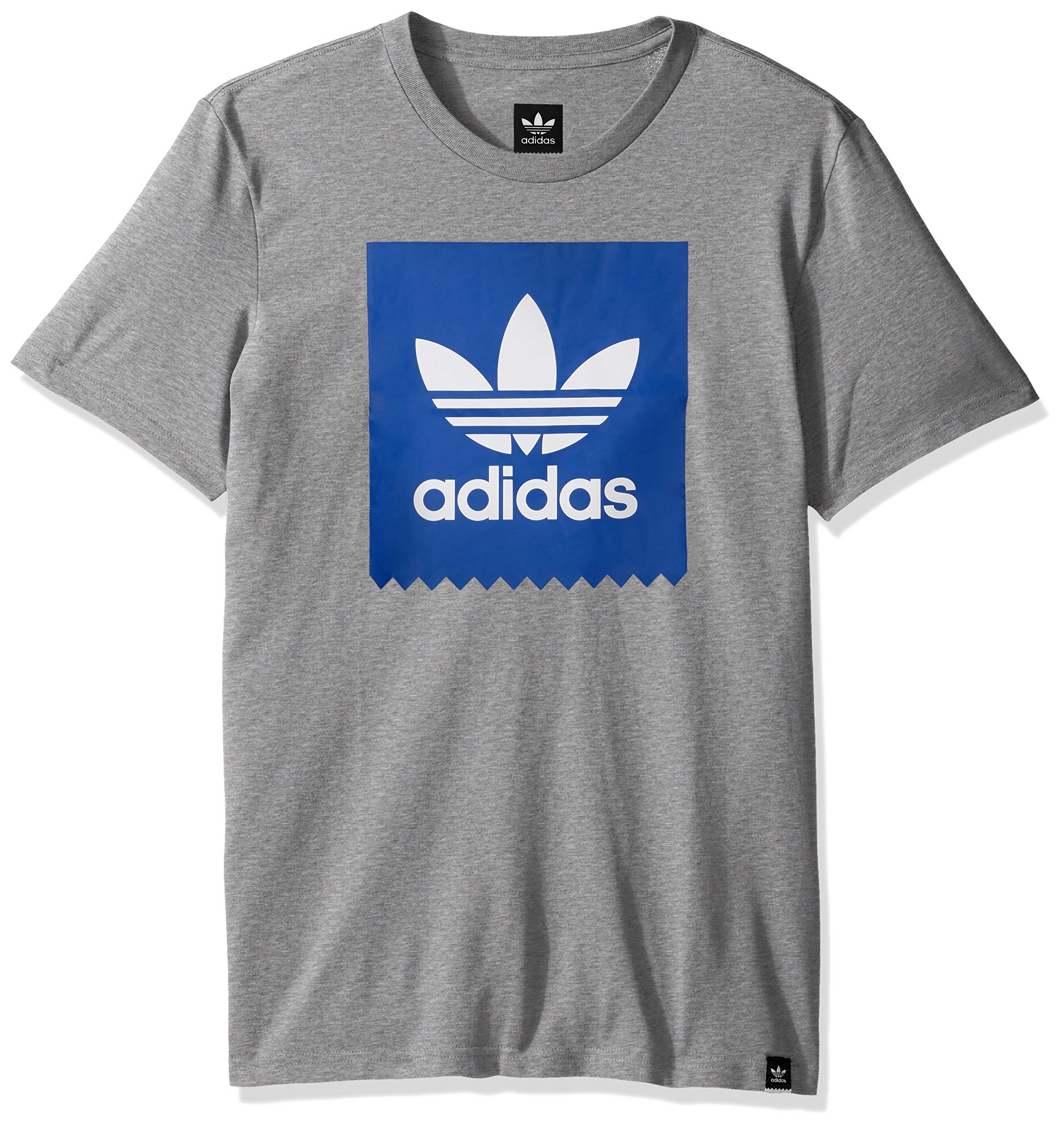 adidas Originals Men's Skateboarding Blackbird Tee, core Heather/Collegiate Royal, XS by adidas Originals (Image #1)