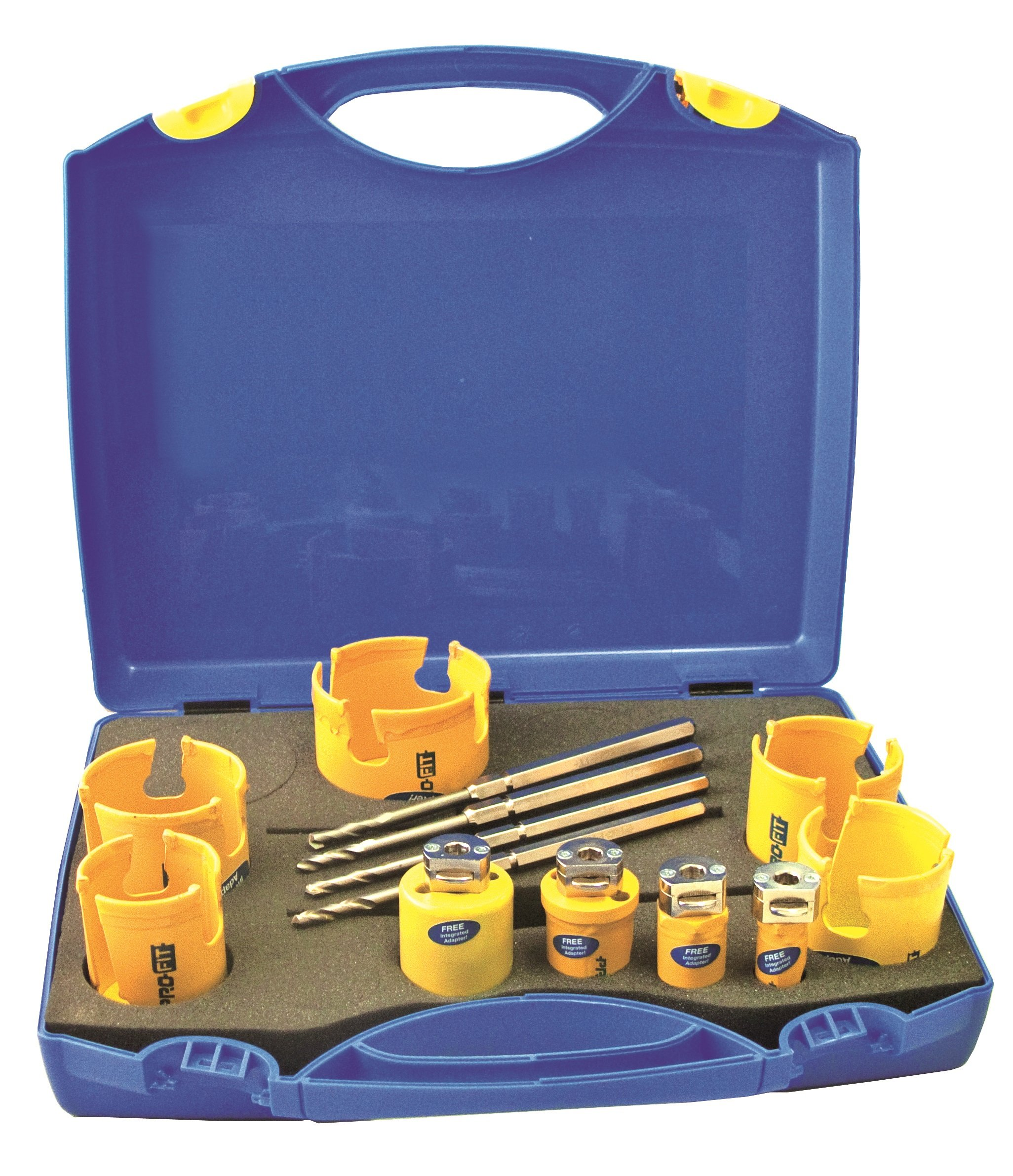 ProFit 1018 0161520CT Carbide Tipped Multi Purpose Kit with Accessories QLH1MP/QLH2MP/QLH1MPCT/QLH2MPCT, Blue, 17-Piece