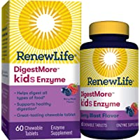 Renew Life DigestMore Kids Enzyme, Berry Blast, 60 Chewable Tablets